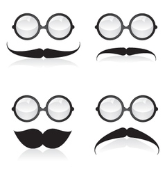 Mustache and sunglasses vector