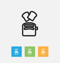 Of meal symbol on toaster vector