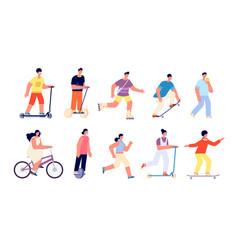 people summer walk sport activities vacation vector image