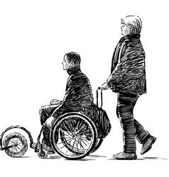 Person in a wheelchair vector