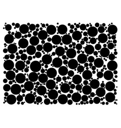 random dots on white background vector image