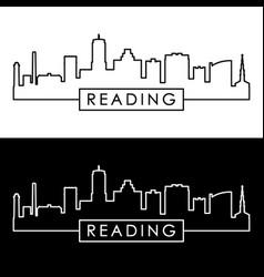 Reading skyline linear style editable file vector