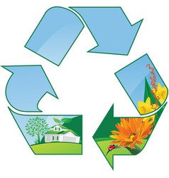 Recycling world vector