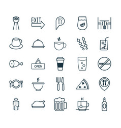 Restaurant icons set collection of beverage tea vector