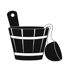 Russian bath tub icon simple style vector