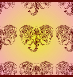 seamless pattern abstract elephant vector image