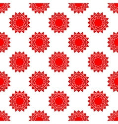 Seamless pattern with bstract sun flat vector