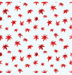 seamless pattern with red leaves japanese maple vector image