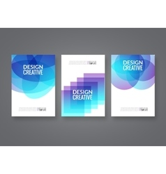 Set of poster templates abstract colorful vector