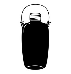 Silhouette long mason jar with wire handle style vector