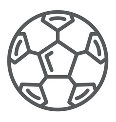 Soccer ball line icon sport and equipment vector