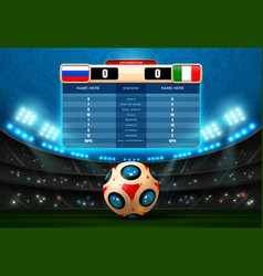 Soccer score board football world russia vector