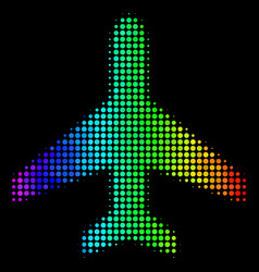 spectral colored pixel air plane icon vector image