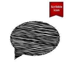 Speech bubble Scribble icon for you design vector image