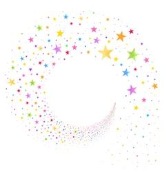 stream multicolored stars vector image