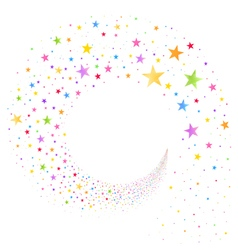 Stream of Multicolored Stars vector image