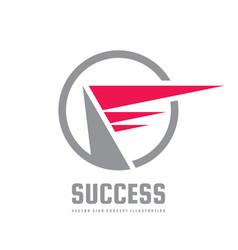 success - business logo template concept vector image