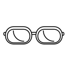 sun glasses icon outline style vector image