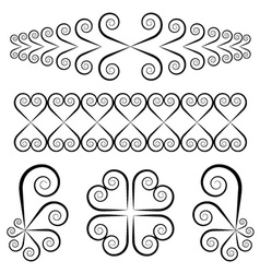 Swirl ornaments vector