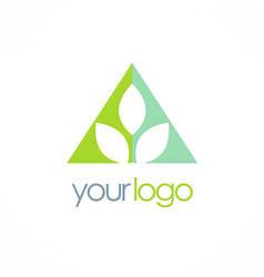 triangle leaf logo vector image