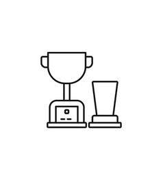 trophy mixer icon marketing icon thin line icon vector image