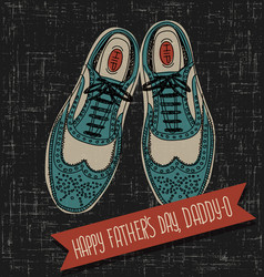 Vintage spectator shoes fathers day vector