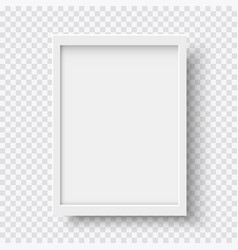 white blank picture frame realistic vertical vector image