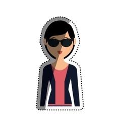 Woman cartoon isolated vector