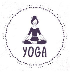 Yoga lotus silhouette vector