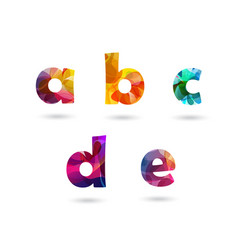 abstract colorful letters set vector image