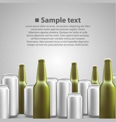 Beer flyer background vector