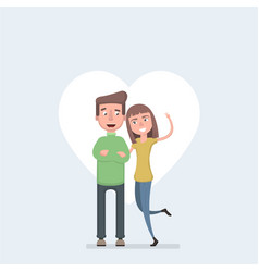 couple in love man and woman embracing each other vector image