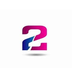 sign number 2 logo vector image vector image