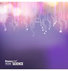 Violet circuit vector image