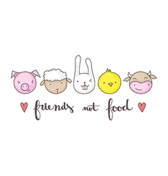 friends not food vector image vector image