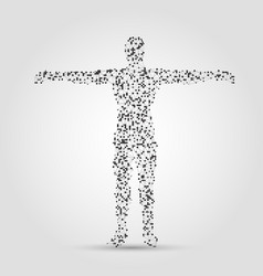 human body made of dots and lines vector image vector image