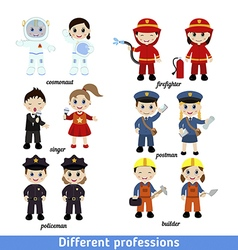 kids professions vector image