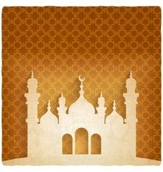 ramadan kareem golden background with Islamic vector image vector image