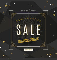 retro style sale banner vector image vector image