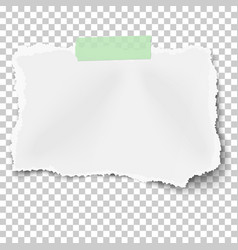 Ripped square paper scrap with soft shadow vector
