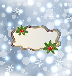 Template frame with mistletoe for design christmas vector image