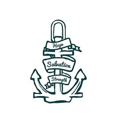 Anchor with Banner vector image vector image