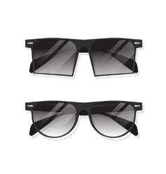 Black sunglasses isolated vector image