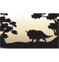 Dinosaur triceratops beautiful scenery of vector image