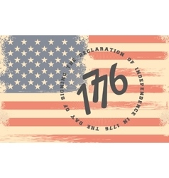 Independence Day America retro flag vector image