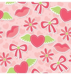 pink seamless pattern vector image
