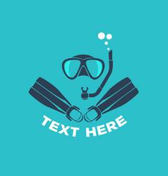 scuba diving logo vector image vector image