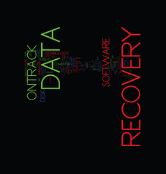 The brief history of ontrack data recovery text vector