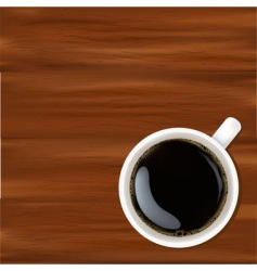 white cup with coffee vector image