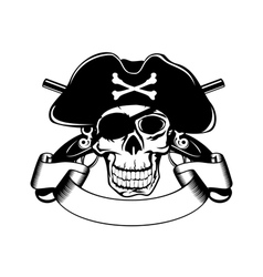 Pirate and crossed pistols vector